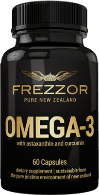 FREZZOR Omega-3 Black with astaxanthin and curcumin